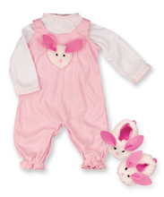 "12"" Pink Baby Doll Jumper 3 Pc Set"
