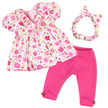 "12"" Baby Doll 3 Piece Leggings Set"