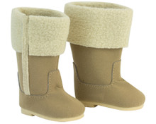 "Shearling Doll Boots Fit 18"" Dolls"