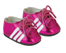 Fuschia Soccer Cleats fit American Girl Doll Soccer Shoes