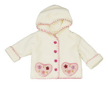 "15"" Ivory Hooded Casual Doll Coat"