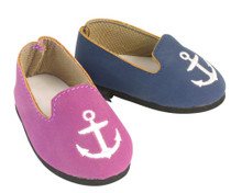 Sophia's Nautical Suede Loafer For 18 Inch Dolls