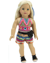 "Sophia's Halter Top & Shorts Set with Waist Purse Fits 18"" Dolls"