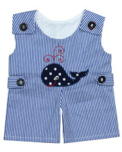 Blue Stripe Whale Romper Fits 15 Inch Baby Dolls