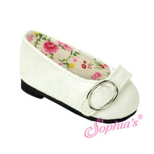 "White Buckle Loafer fits 18"" Dolls American Girl Doll Shoes"
