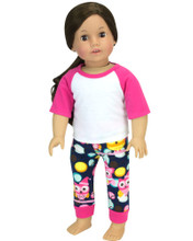 "Owl Print Pajama Set  Fits 18"" Dolls"