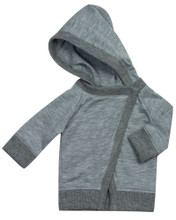 "Gray Hooded Sweater Jacket for 18"" Dolls"