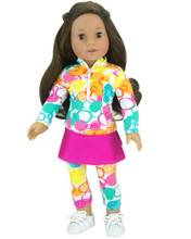 "18"" Doll Athletic Outfit 2 piece set fits American Girl Athletic Wear"