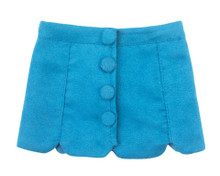 "18"" Doll Teal Suede Skirt fits American Girl Doll Skirts"