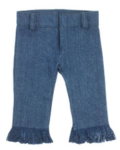 "Denim Jeans w/Fringe Hem fits 18"" Dolls"