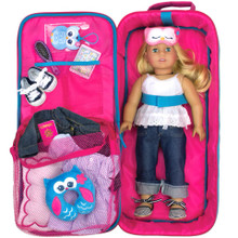 "18"" Doll Carrier Cross Strap Suitcase for American Girl Dolls"