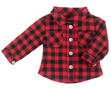 Checkered Flannel Shirt Fits 18 inch Dolls