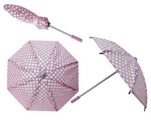 "Polka Dot Doll Umbrella for 18"" Dolls"