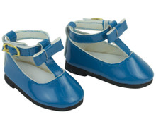 Patent 18 inch  Doll Shoe in Cornflower Blue fits American Girl Shoes