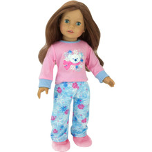 Polar Bear PJ & Slipper Set for 18 Inch Dolls fits American Girl Doll Pajamas
