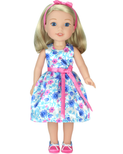 Floral Party Dress Set fits 14 ½ Inch Wellie Wishers™ Dolls