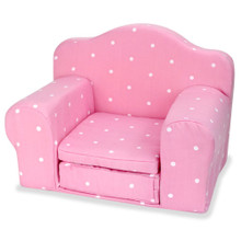 Pink Polka Dot Pull Out Single Chair Bed