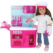 19 Piece Chef's Kitchen & Accessory Set for 18 Inch Dolls