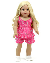 "18"" Doll Floral Summer Pajama 2 Piece Set Fits American Girl Doll Pajamas"