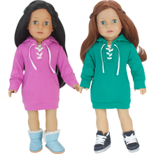 Hooded Sweatshirt Dress for 18 Inch Dolls