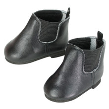 "Black Low Cut ""Chelsea"" Boots"