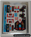 Transformers G1 Dinobot Snarl Sticker Sheet with Factory Pre-applied Stickers