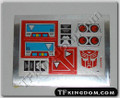 Transformers G1 Blaster Sticker Sheet