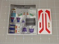 Transformers G1 Thundercracker Sticker Sheet with factory pre-applied stickers