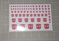 Transformers G1 Autobot Symbol Stickers with white background