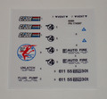 GI Joe Devilfish sticker sheet.