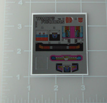 Transformers G1 Ominibot Camshaft sticker sheet