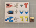 Diaclone Transformers Power Dashers Drill Dasher, F1 Dasher & Sky Dasher sticker sheet
