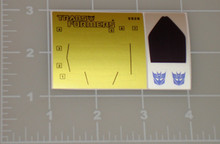 Transformers G1 Runamuck Sticker Sheet