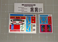 Masterpiece Diaclone No.11 Fairlady Z Racing Type Sticker Sheet