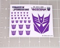 Transformers G1 Decepticon Symbol stickers with white background