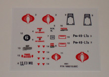 GI Joe Cobra Flight Pod sticker sheet