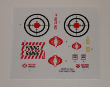 GI Joe Cobra Rifle Range Unit Sticker Sheet