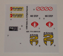 GI Joe Cobra FANG II sticker sheet