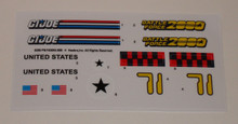GI Joe Battleforce 2000 Pulverizer Sticker Sheet