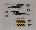 GI Joe Cobra Piranha sticker sheet