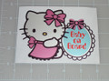 "Hello Kitty ""Baby on Board"" 5x3.5"" Vehicle Decal"