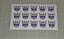 Decepticon Logo Letter Seal with White Background