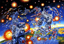 Transformers G1 Decepticons 1986 Box Art Poster Canvas