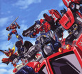 Transformers G1 Autobots w/ Optimus Prime Poster Canvas