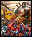 Transformers G1 Autobots Optimus Prime Metroplex Omega Supreme Poster Canvas #107