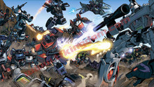 Transformers G1 Autobots vs Decepticons Optimus Prime vs Megatron Poster Canvas