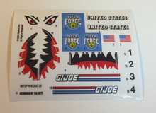 GI Joe Tiger Sting Sticker Sheet.