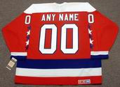 "WASHINGTON CAPITALS 1980's CCM Vintage Throwback NHL Jersey Customized  ""Any Name & Number(s)"""