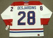 ERIC DESJARDINS Montreal Canadiens 1993 CCM Throwback Home NHL Jersey