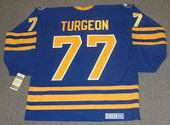 PIERRE TURGEON Buffalo Sabres 1989 CCM Vintage Throwback Away NHL Hockey Jersey